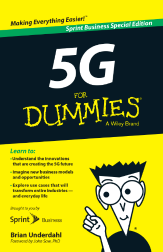 The cover of the book '5g for dummies'